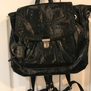 Coach Poppy Black Patent Leather Backpack - NWOT